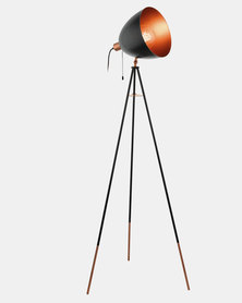 Eurolux Chester Floor Lamp Black And Copper