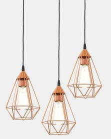 Eurolux Tarbes 310 Three Light Hanging Copper