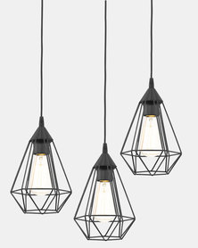 Eurolux Tarbes 310 Three Light Hanging Black