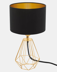 Eurolux Carlton 2 Lamp Black and Gold