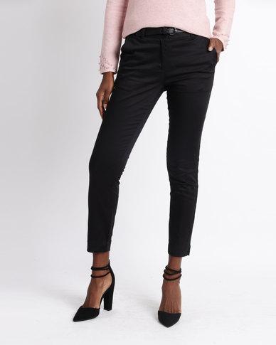 f0a3098cf96 Queenspark Ankle Grazer Woven Pants Black