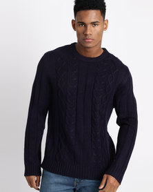 Utopia Cable Jumper Navy