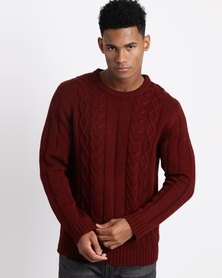 Utopia Cable Jumper Burgundy