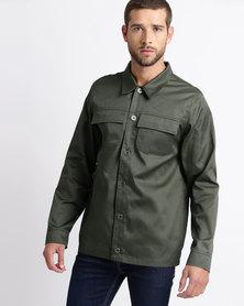 Resist Military Worker Jacket Olive