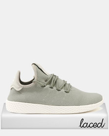 adidas Pharrel Williams Tennis HU Tech Trainer Beige Chalk White