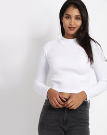 All About Eve Mysly Turtleneck Top White