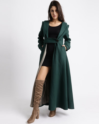 Jozsy Akila Coat Dress Jade