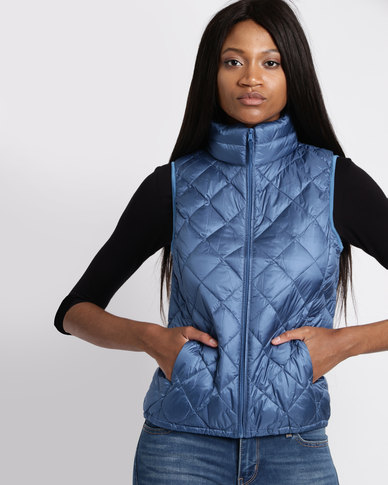 G Couture Sleeveless Jacket Navy