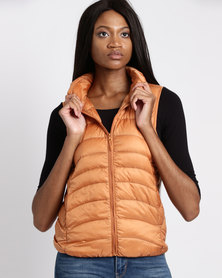 G Couture Sleeveless Jacket Orange