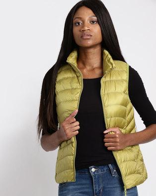 G Couture Sleeveless Jacket Light Green