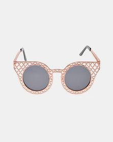 Naked Eyewear Lena Sunglasses Rose Gold-tone