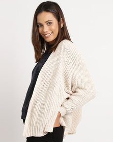 Utopia Chenille Oversized Cardigan Cream