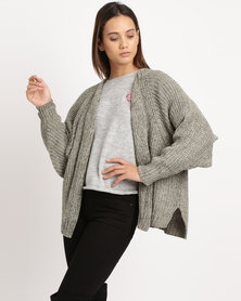 Utopia Chenille Oversized Cardigan Green