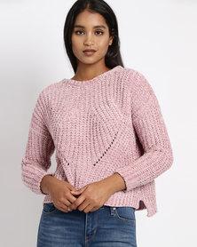 Revenge Chenille Jersey Pink