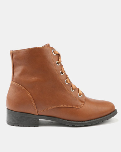 Utopia Statin Lace Boot Tan