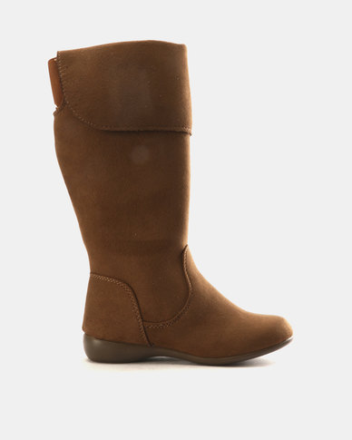 Franco Ceccato Girls Long Flap Detail Boots Brown