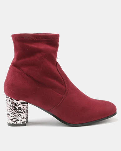 Utopia Softee Boots Burgundy