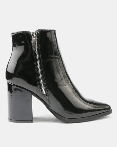 Utopia Hi Shine Heeled Boots Black