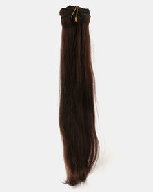 Clipinhair Hair Extensions Dark Brown