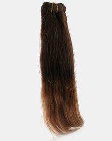 Clipinhair Hair Extensions Ombre Chestnut Brown