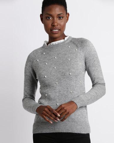 Assuili William de Faye Pearl Sweater Grey