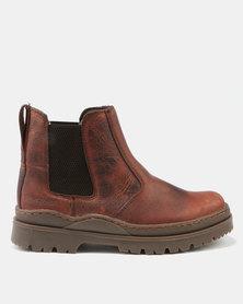 Bronx Men Savane Chelsea Boots Red/Brown