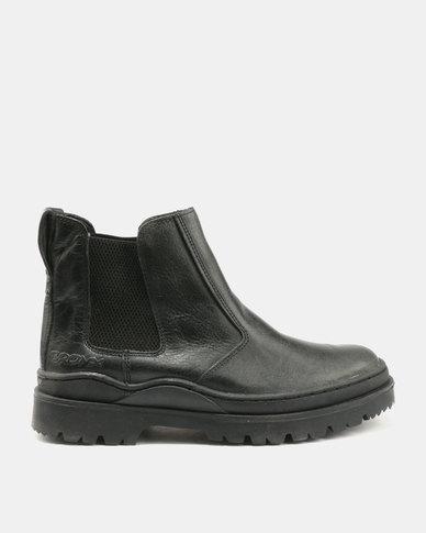 Bronx Savane Chelsea Boots Black