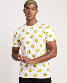 Unseen Smiley T-Shirt White