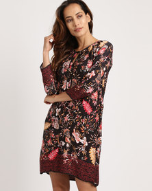 G Couture Floral Printed Tunic Multi