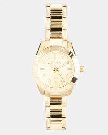 CHAPS Stainless Steel Strap Watch Gold