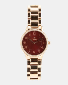 CHAPS Alloy Strap Watch Rose Gold