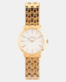 CHAPS Stainless Steel Strap Watch Rose Gold