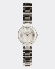 Fossil Stainless Steel Strap Watch Silver-tone