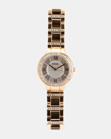 Fossil Stainless Steel Strap Watch Rose Gold-tone