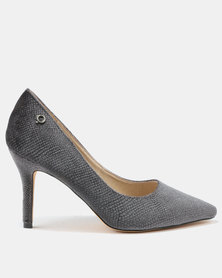 Bronx Women Diana High Heel Court Shoes Grey