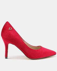 Bronx Women Diana High Heel Court Shoes Red