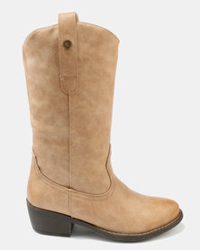 Bronx Women Kerryn Knee High Boots Taupe