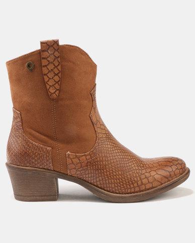 Bronx Women Bronx Women Lulama Block Heel Ankle Boots Tan free shipping good selling cheap amazon shopping online UuX5KoMGDx