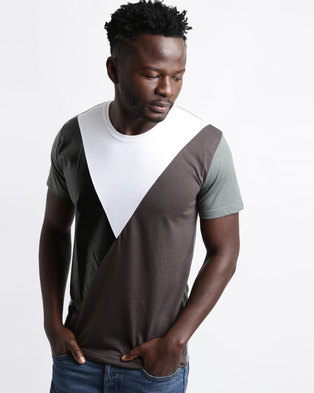 Utopia Colourblock Tee Olive