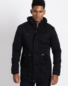 JCrew Longer Length Parka Navy