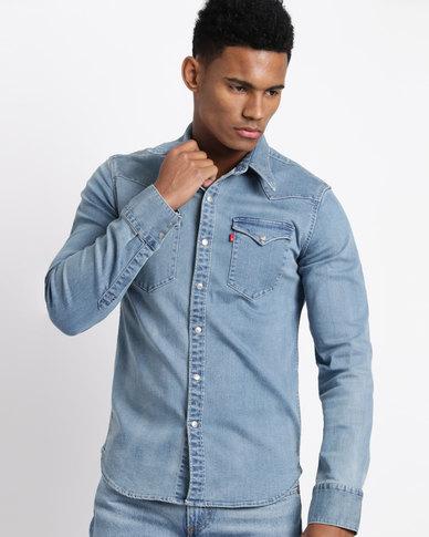 Levi's ® Barstow Western Brooklyn Stretch Shirt Light Blue