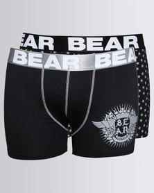 Bear 2 Pack Bodyshorts Black