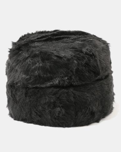 Queenspark Plain Turned Up Faux Fur Cossack Hat Black  161f741c49b