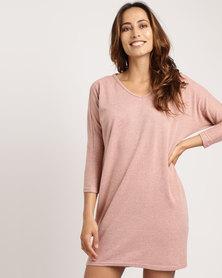 Utopia Cut n Sew Tunic Dress Pink Melange