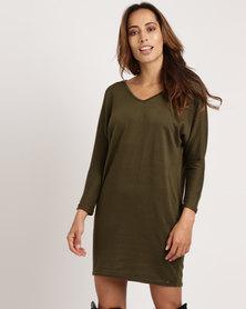 Utopia Cut n Sew Tunic Dress Olive