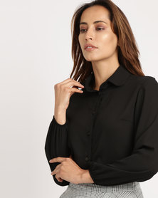 Utopia Georgette Blouse Black