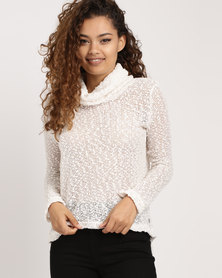 Rip Curl Roll Neck Sweater Ivory