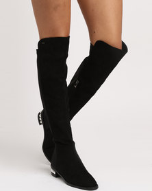 Miss Black Avril Boots Black