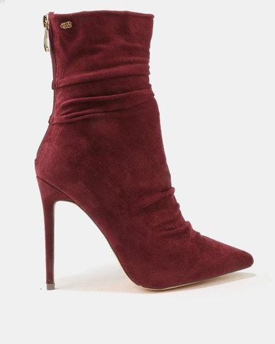 Miss Black Miss Black Allegra Shuffle Boots Burgundy sale shop pDnlng5I