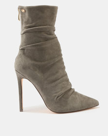 Miss Black Allegra Shuffle Boots Olive